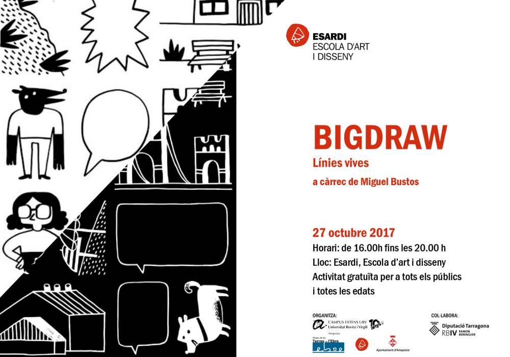 """Museu de les Terres de l´Ebre : agenda : Bigdraw """"Línies vives"""""""