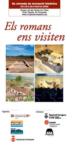Museu de les Terres de l´Ebre : agenda : Els romans ens visiten. Jornada de recreació històrica