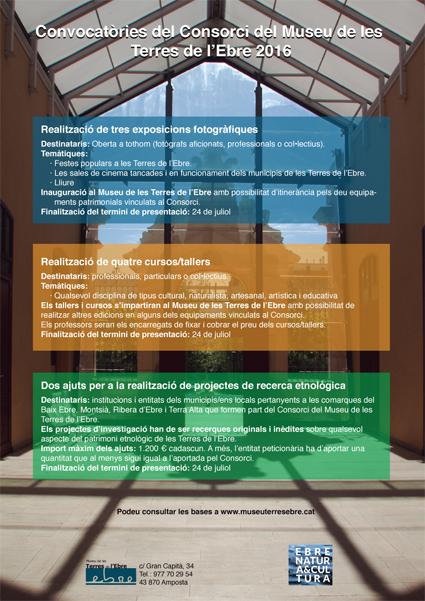 Museu de les Terres de l´Ebre :  : Obertes les convocatòries per a la realització d'exposicions fotogràfiques i cursos - tallers