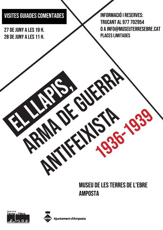 """Museu de les Terres de l´Ebre : agenda : Visites guiades a l'exposició """"El llapis, arma de guerra antifeixista 1936-1939"""""""