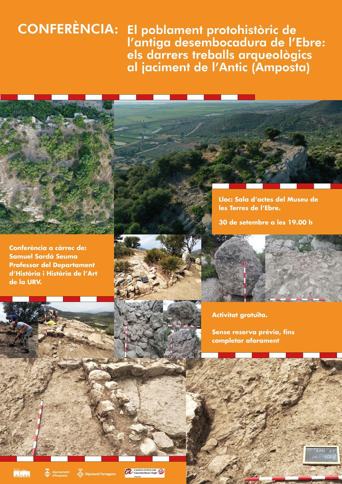 """Museu de les Terres de l´Ebre : agenda : Conferència """"El poblament protohistòric de l'antiga desembocadura de l'Ebre: els darrers treballs arqueològics al jaciment de l'Antic (Amposta)"""""""