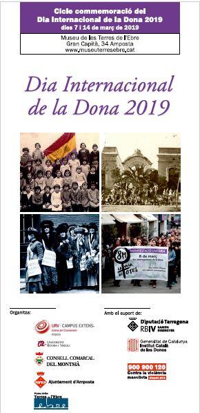 Museu de les Terres de l´Ebre : agenda : Cicle de commemoració del Dia Internacional de la Dona, 2019