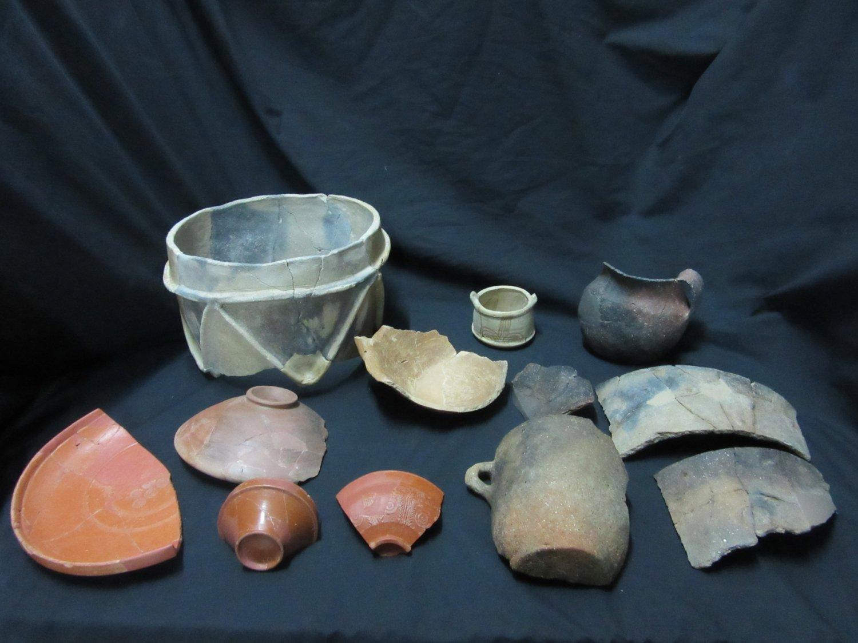 Materials arqueològics restaurats per l'l'Escola Superior de Conservació i Restauració de Béns Culturals de Catalunya
