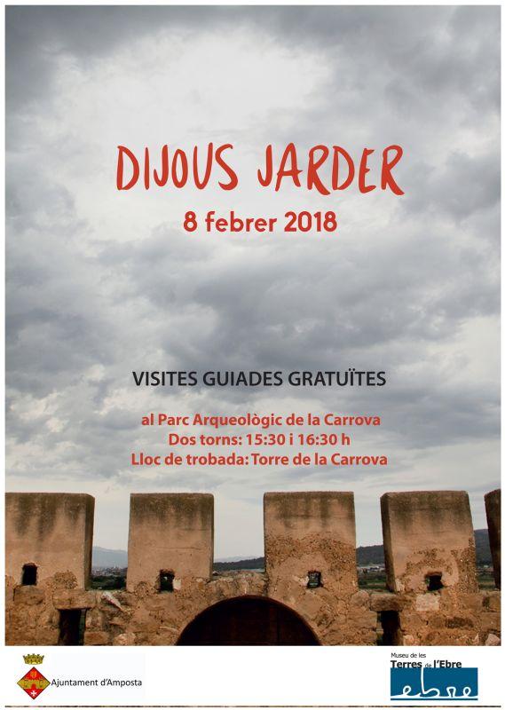 Museu de les Terres de l´Ebre : agenda : Visites guiades gratuïtes al parc arqueològic de la Carrova amb motiu de Dijous Jarder