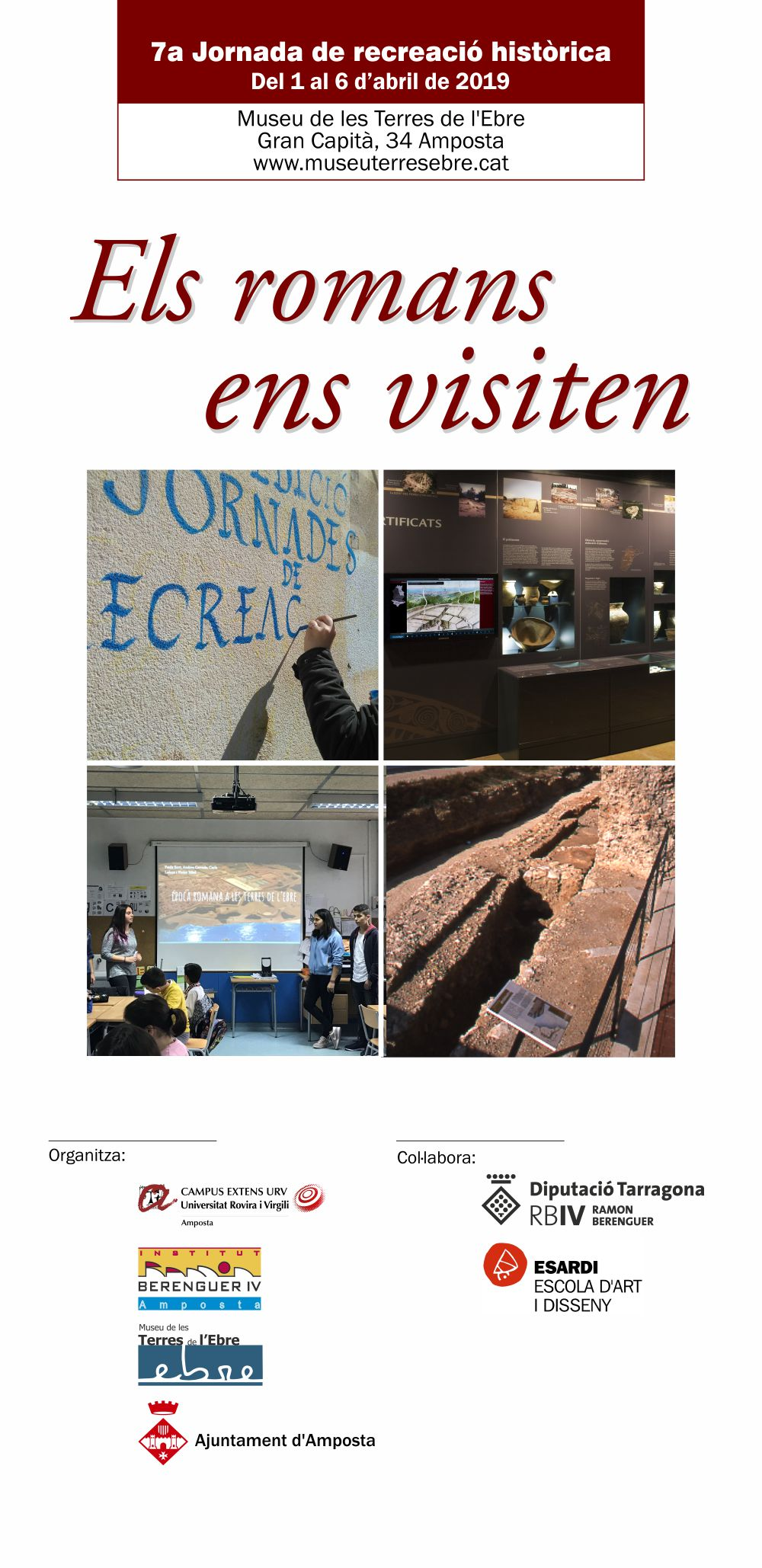Museu de les Terres de l´Ebre : agenda : Els romans ens visiten